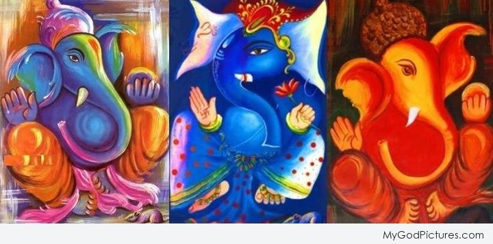 Beautiful Paintings of Lord Ganesha Paintings of Lord Ganesha