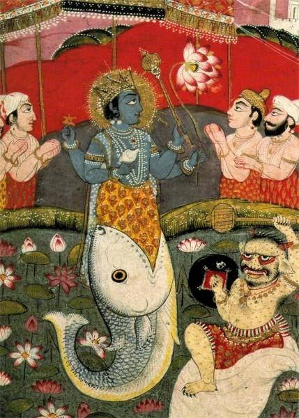 Beautiful Lord Matsya Painting