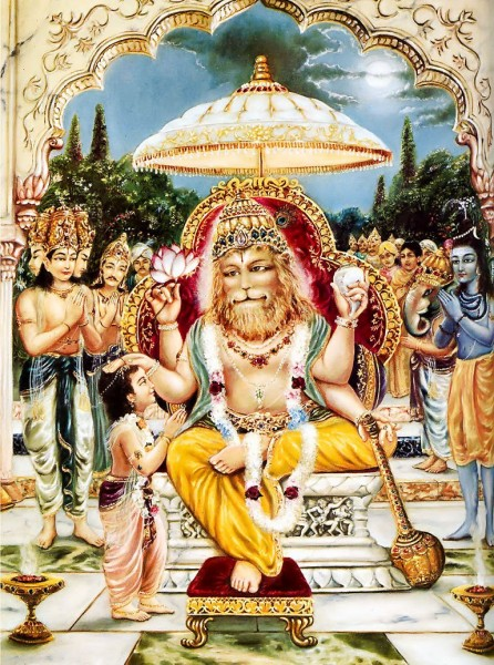 God Sri Narasimha with Prahlad
