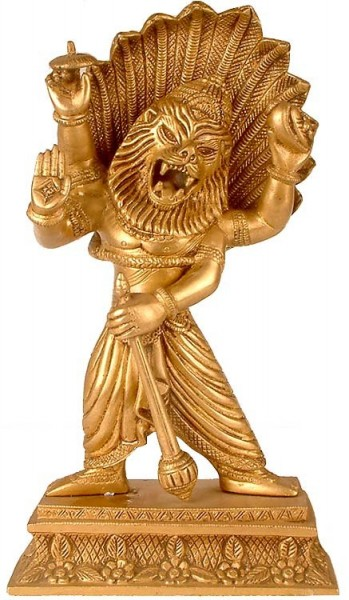Beautiful Statue Of God Narasimha Ji