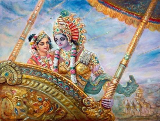 Lord Kurma Ji with Mata Rukmini ji