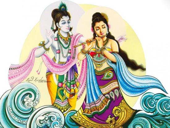Radha  with Sri Ghanshyam ji