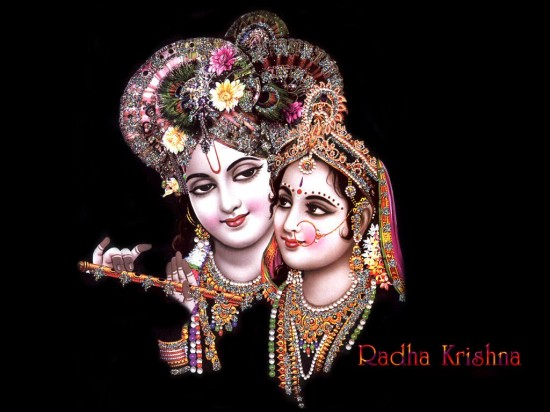 Radha  with Sri Bihari ji