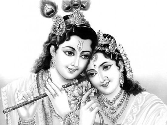 God Sri Gopala with Radha