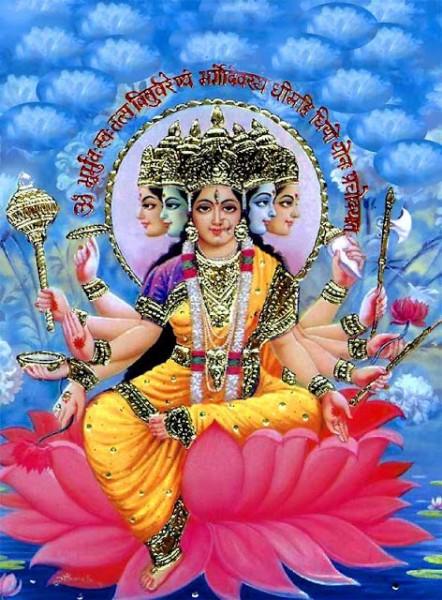 Beautiful Picture Goddess Gayatri Ji