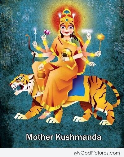 Beautiful Sketch of Mata Kushmanda – Maa Durga Fourth Avatar