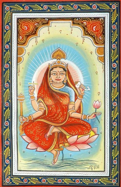 Beautiful Sketch of Mata Siddhidatri – Maa Durga Ninth Avatar