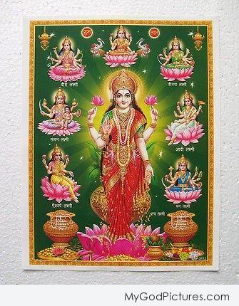 Ashta Laxmi Eight Avatars Of Lakshmi Maa