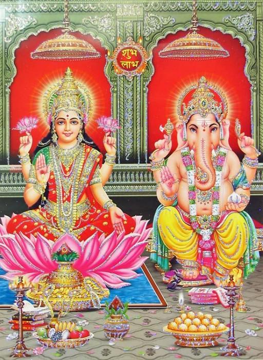 Diwali Puja Of Mata Lakshmi Ji And Lord Ganesha Ji