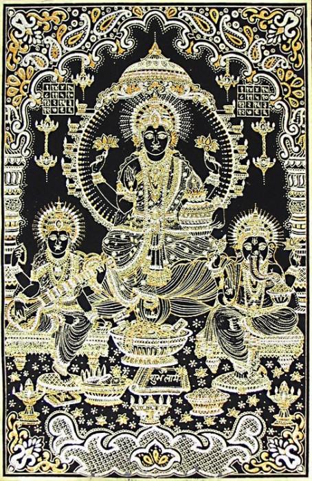 Lakshmi, Saraswati and Ganesha Ji