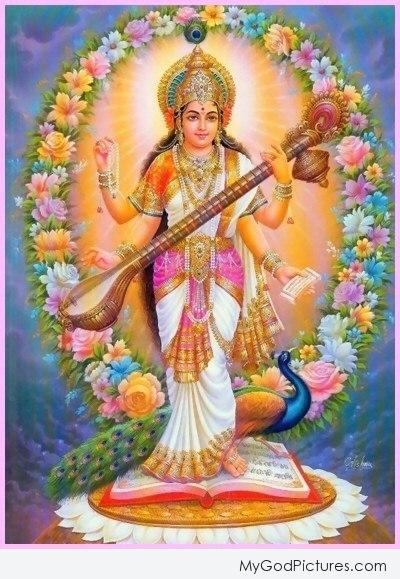 Goddess Saraswati – Happy Diwali