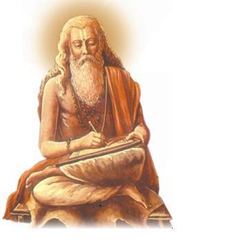 Golden Picture Of Rishi Vyasa Ji