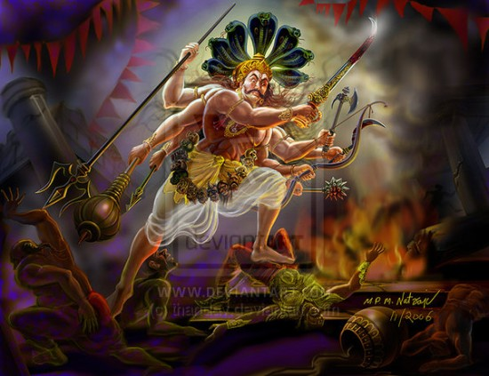 Image Of Veerabhadra By Thandav