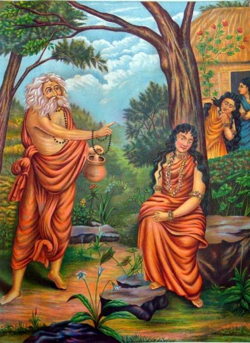 Lord Durvasa Ji With  Shakuntala