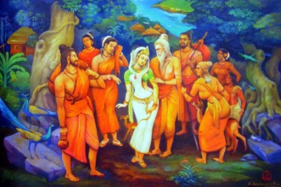 Lord Maha Rishi Durvasa Ji With Shakuntala