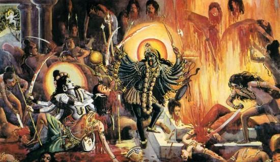 Lord Veera Bhadra Ji with Kali Maa Ji