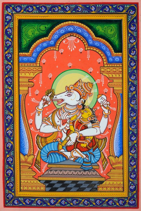 Painting Of Lord Hayagreeva Ji