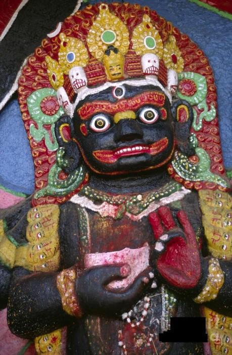 Shree Bhairav Ji In Kathmandu Nepal