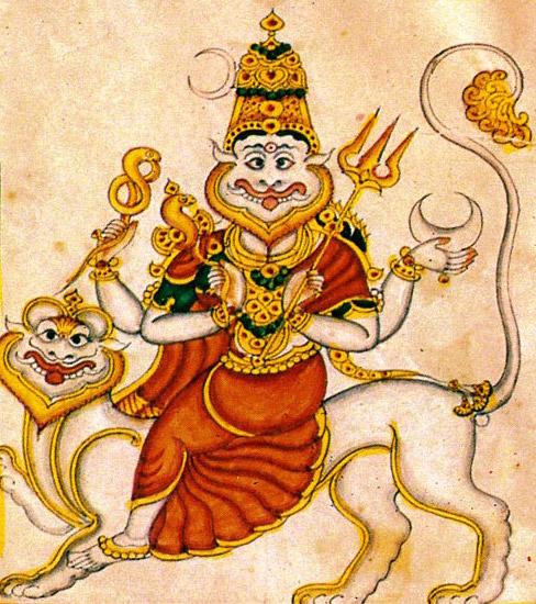 Shree Sharabha Ji Painting