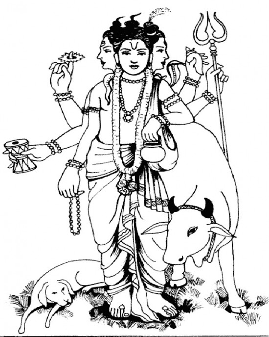 Sketch Of Shri Dattatraya Ji