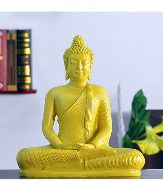 Yellow Statue Of Buddha Ji