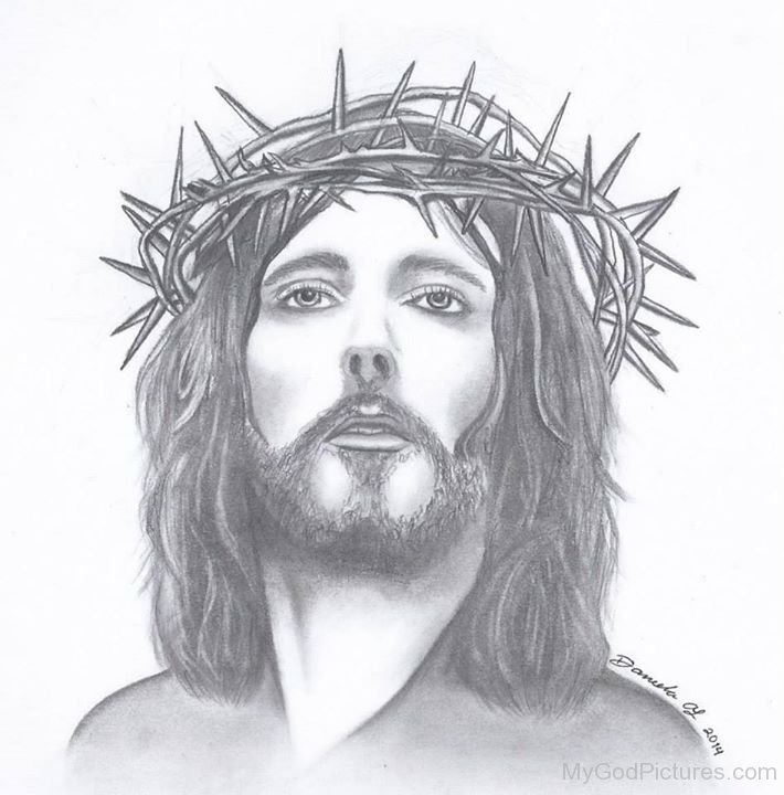 Beautiful pencil sketch of jesus christ