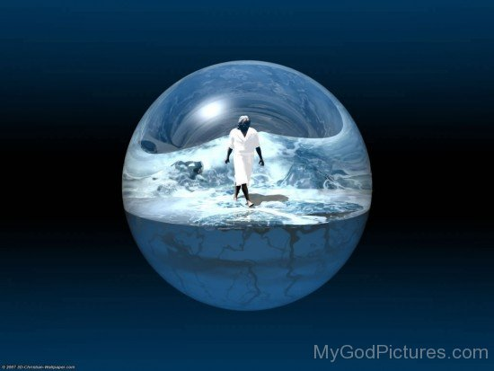Beautiful Image Of Lord Jesus In Globe