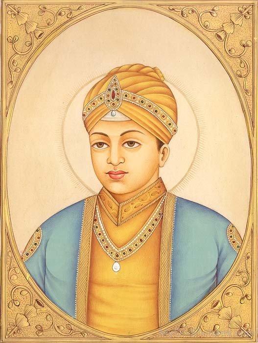 Beautiful Painting Of Guru Har Krishan Ji