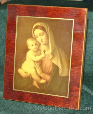 Frame Of Mother Marry With Lord Jesus As Child
