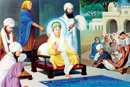 Guru Har krishan Ji In Sitting Pose