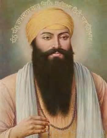 Guru Ram Das Ji In Orange Turban