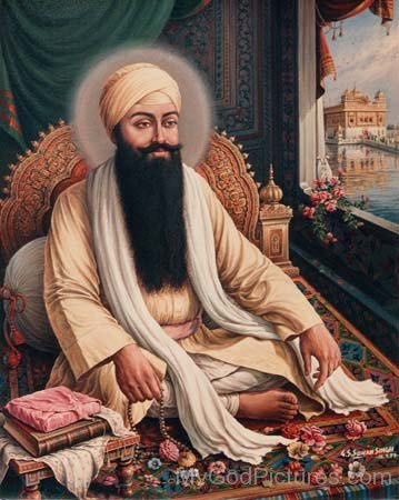 Guru Ram Das Ji In Sitting Pose