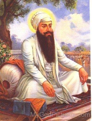 Guru Ram Das Ji In White Dress