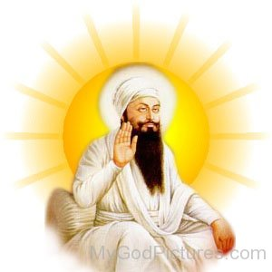 Shree Guru Angad Dev Ji In White Dress