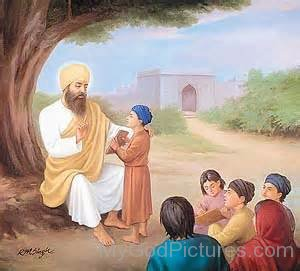 Shree Guru Angad Dev Ji Teaching Gurmuki To Childrens