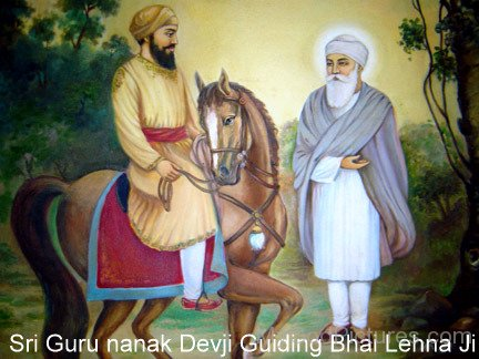 Shree Guru Nanak Dev Ji Guiging Bhai Lehna Ji