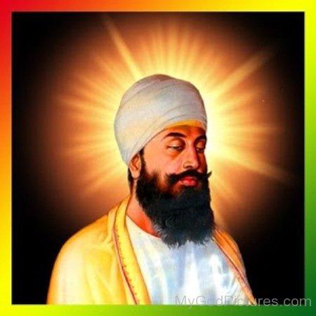Side Pose Of Guru Tegh Bahadur Ji
