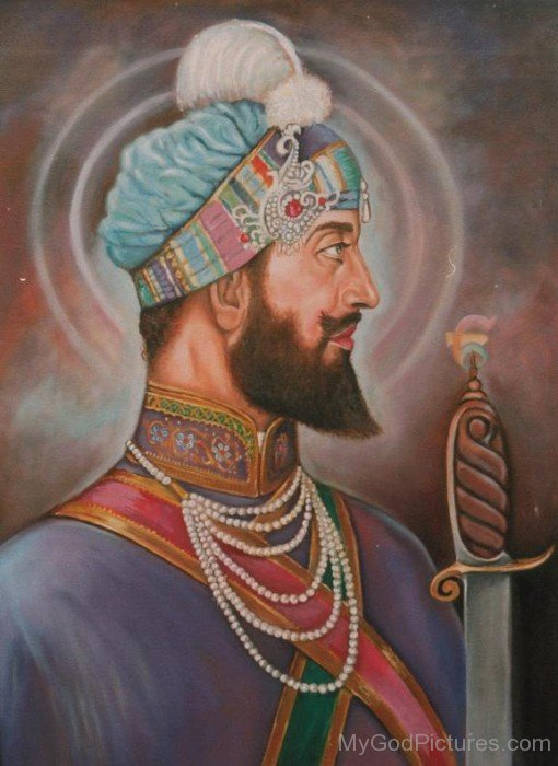 Side Pose Of Shree Guru Hargobind Ji