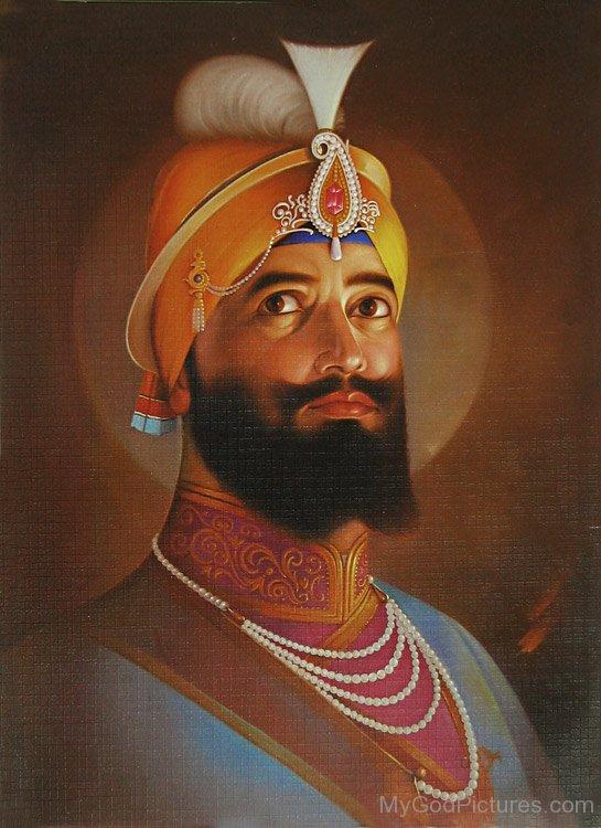 Side Pose Of Shri Guru Gobind Singh Ji