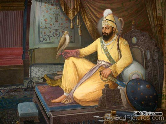 Sitting Image Of Guru Gobind Singh Ji