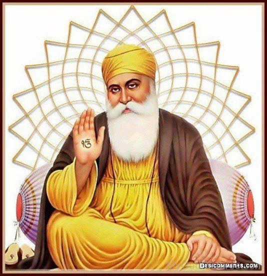 Sitting Pose Of Guru Nanak Dev Ji