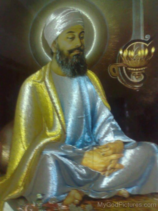 Sparkle Image Of Guru Tegh Bahadur Ji
