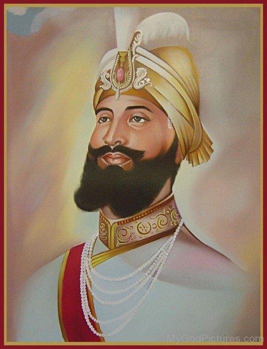 Water Painting Of Guru Gobind Singh Ji