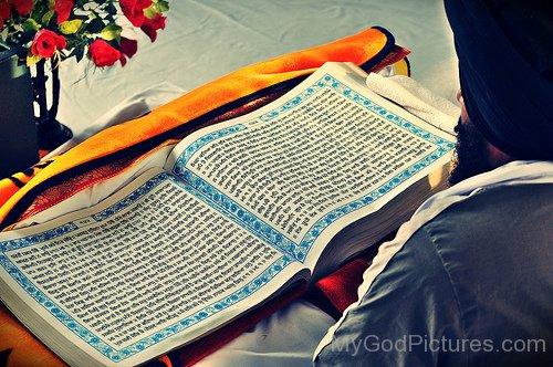 Beautiful View Of Guru Granth Sahib Ji