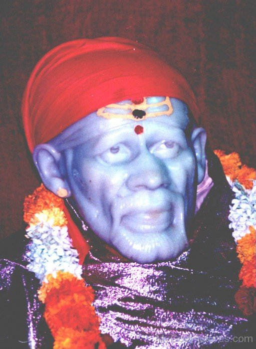 Closeup Image Of Shirdi Sai Baba Ji