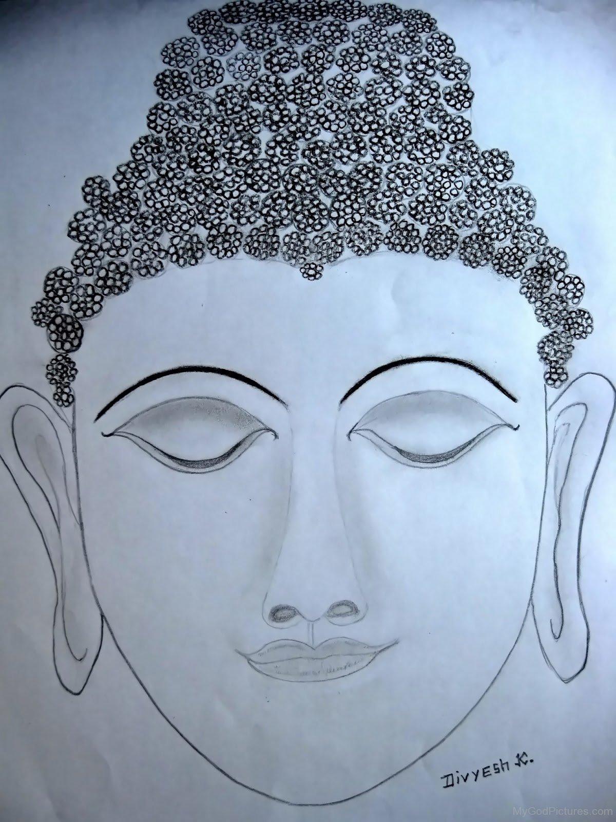 Face portrait of lord buddha ji