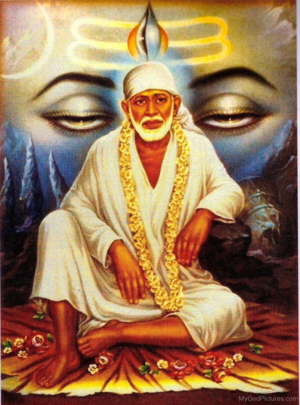 Download Wallpaper Lord Sai Baba - God-Shri-Sai-Baba  Pictures_105156.jpg