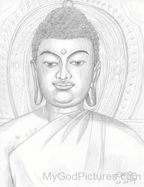 Lord Buddha Ji - Pencil Sketch