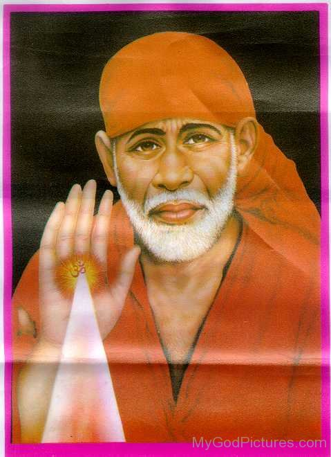 Sai Baba Ji Giving Blessing To All