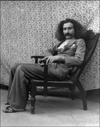 Side Image Of Avatar Meher Baba On Chair